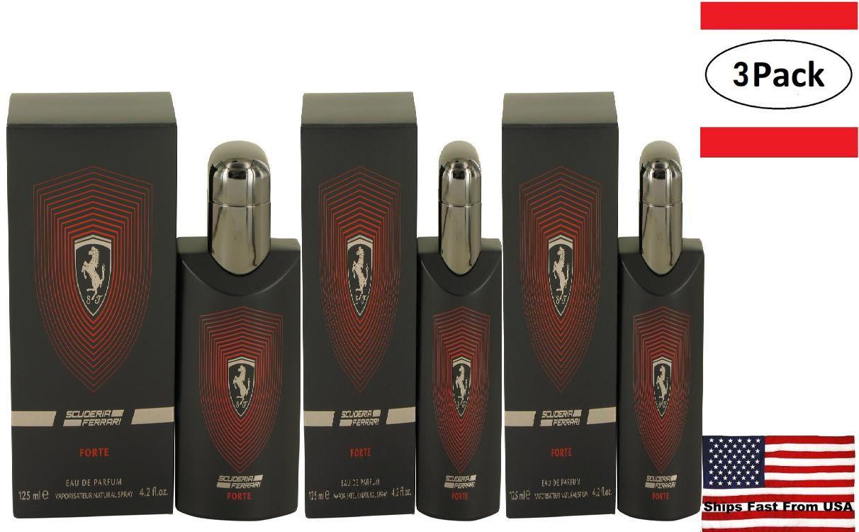 3 Pack Ferrari Scuderia Forte by Ferrari Eau De Parfum Spray 4.2 oz for Men