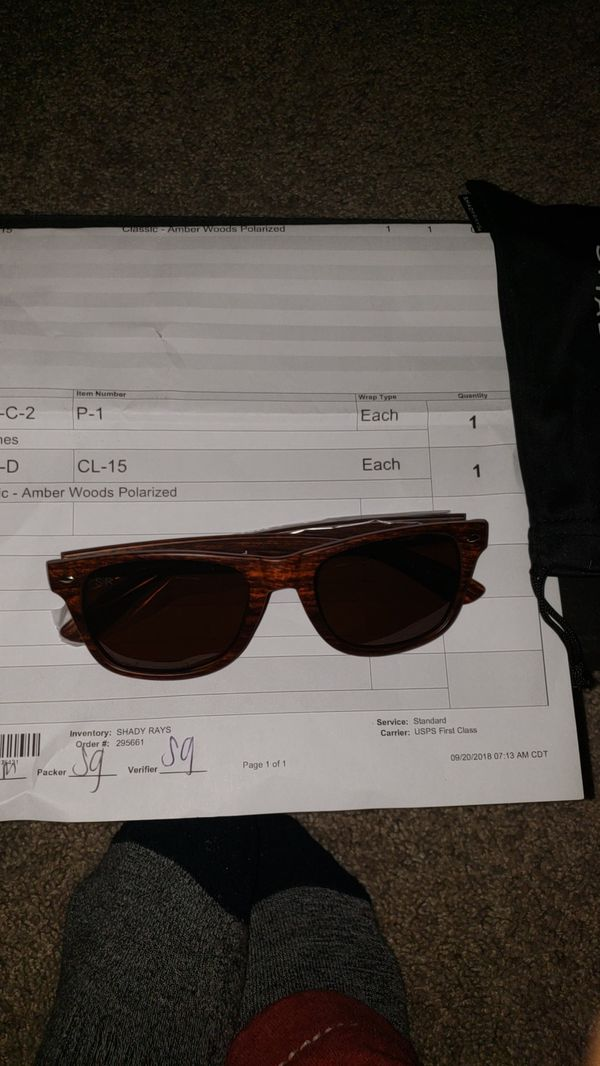 34fa25b025b4 Shadyrays Amber Woods Polarized for Sale in Seattle