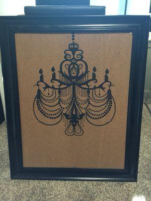 Framed cork board for Sale in Portland, OR