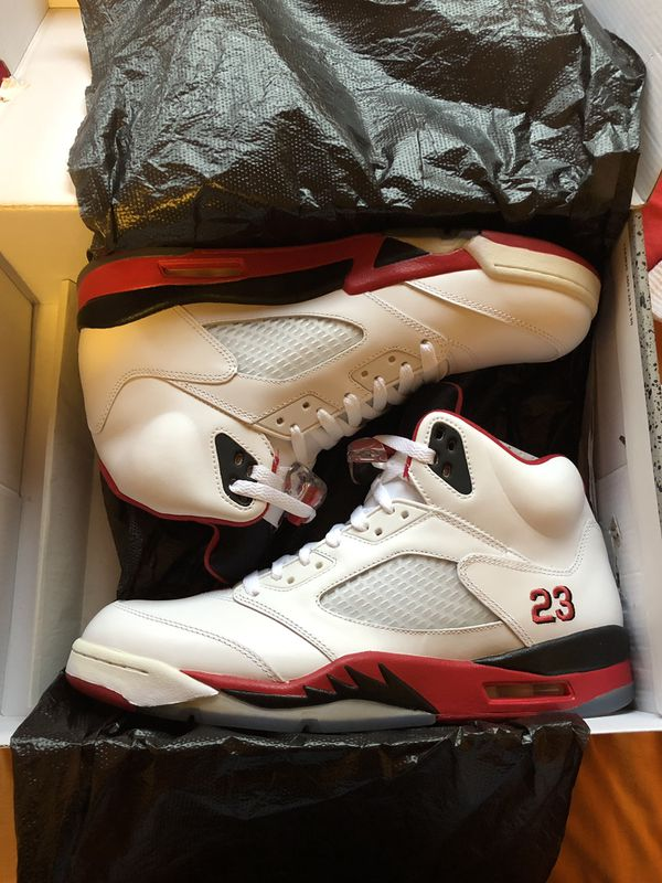 los angeles 8b0ba 0c923 Air Jordan 5 Fire Red (black tongue) Size 11