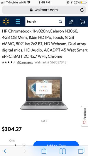 Chrome book HP 11 inch touch screen Laptop for Sale in Manassas Park, VA
