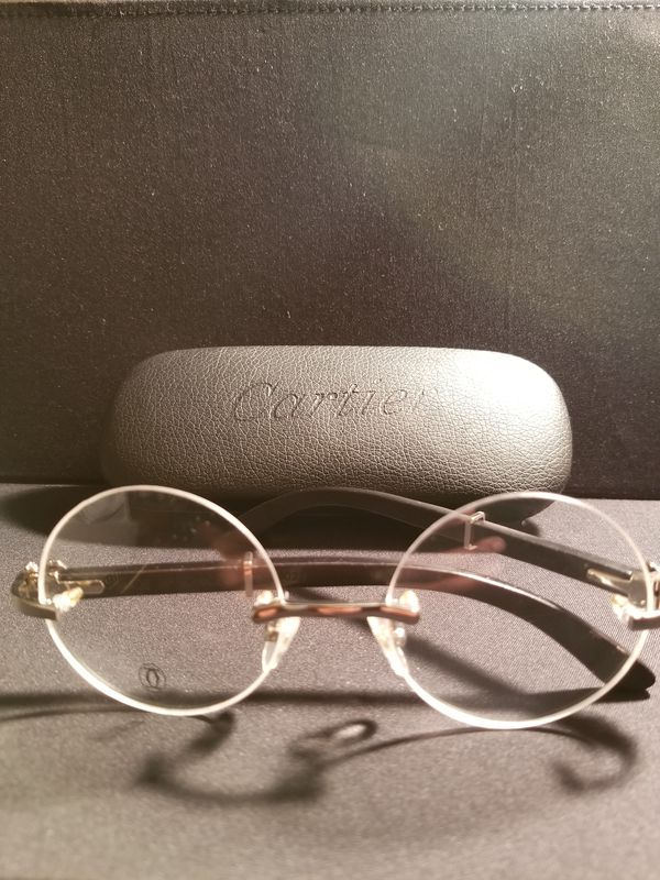 Cartier C Decor Rimless Glasses Wood/Gold (Jewelry & Accessories) in ...