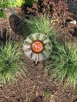 Glass plates flower garden art decoration Thumbnail