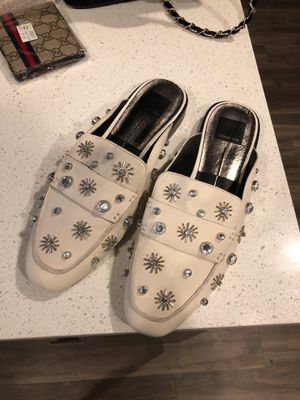 Leather Dolce Vita Slip Ons with Crystal Feautures for Sale in Salt Lake City, UT