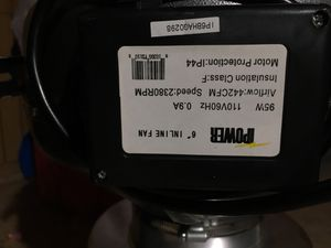 "I power 6"" inline fan ;speed 2380rpm for Sale in Washington, DC"
