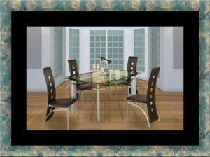 Glass dining table with 4 chairs for Sale in Takoma Park, MD