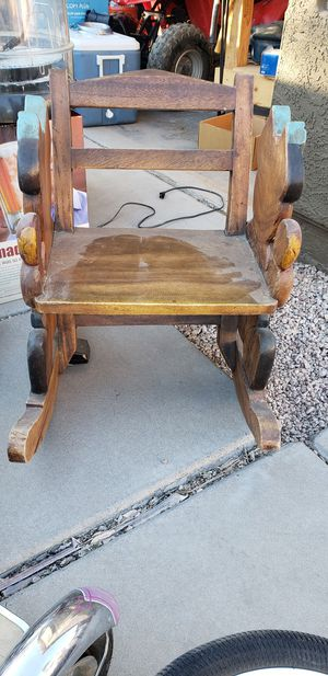 Antique child rocking chair. for Sale in Mesa, AZ