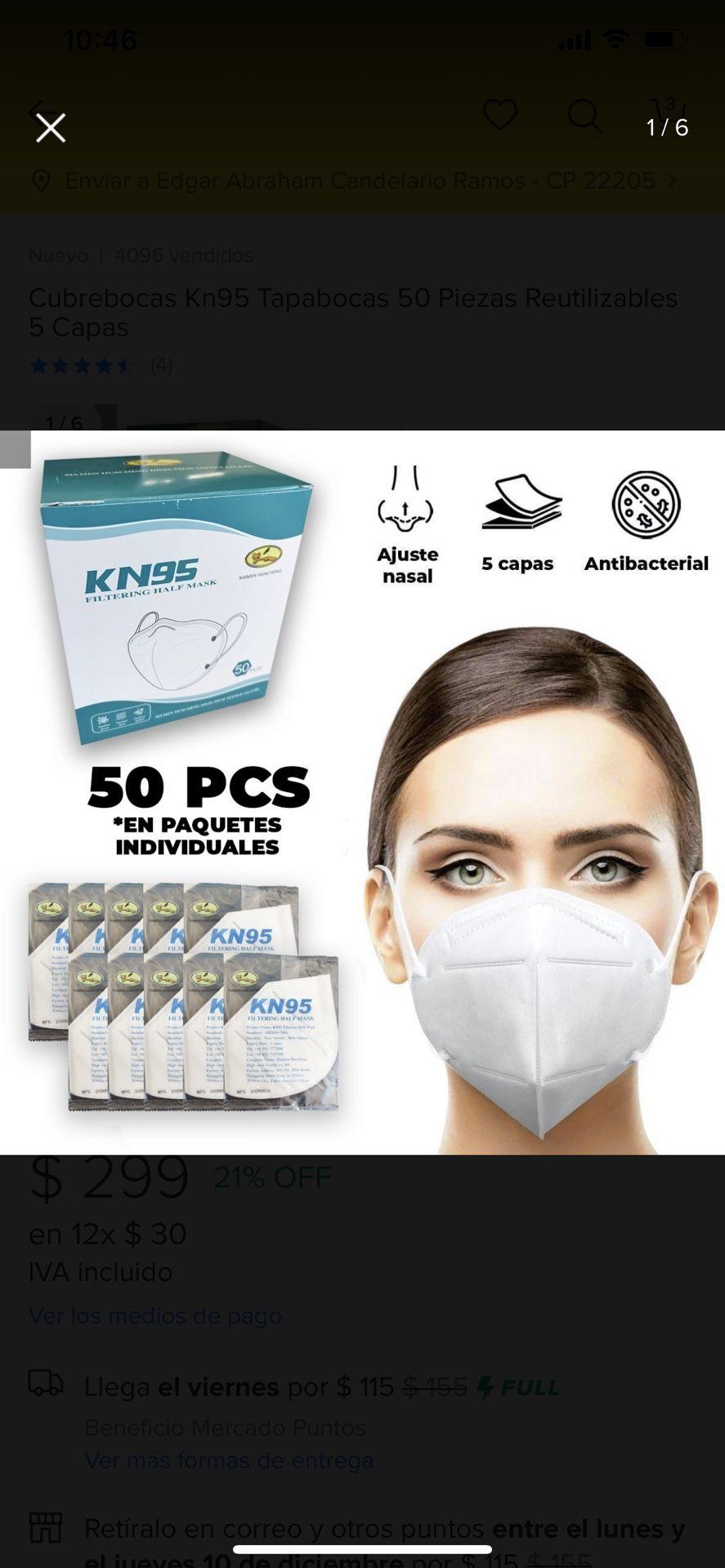 Face mask 50 for 5 dlls