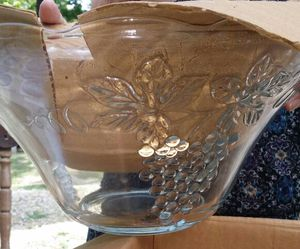 Anchor Hocking glass punch bowl set for Sale in St. Louis, MO
