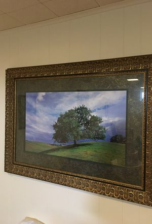 Large Gold Leaf Frame with Tree Photo for Sale in Frederick, MD