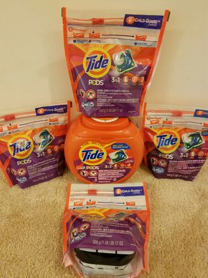 1 Tide pod laundry detergent canister 42 count and four 20 count bags - $30 not negotiable for Sale in Rockville, MD