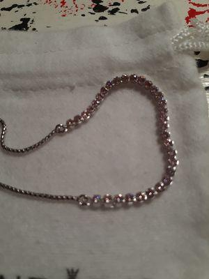 Photo New silver sparkling strand pink cz pandora bracelet