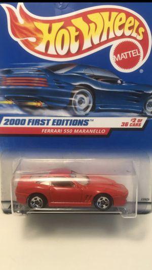 Photo Hot Wheels Ferrari 550 Maranello 2000 First Editions 62 Mattel Wheels