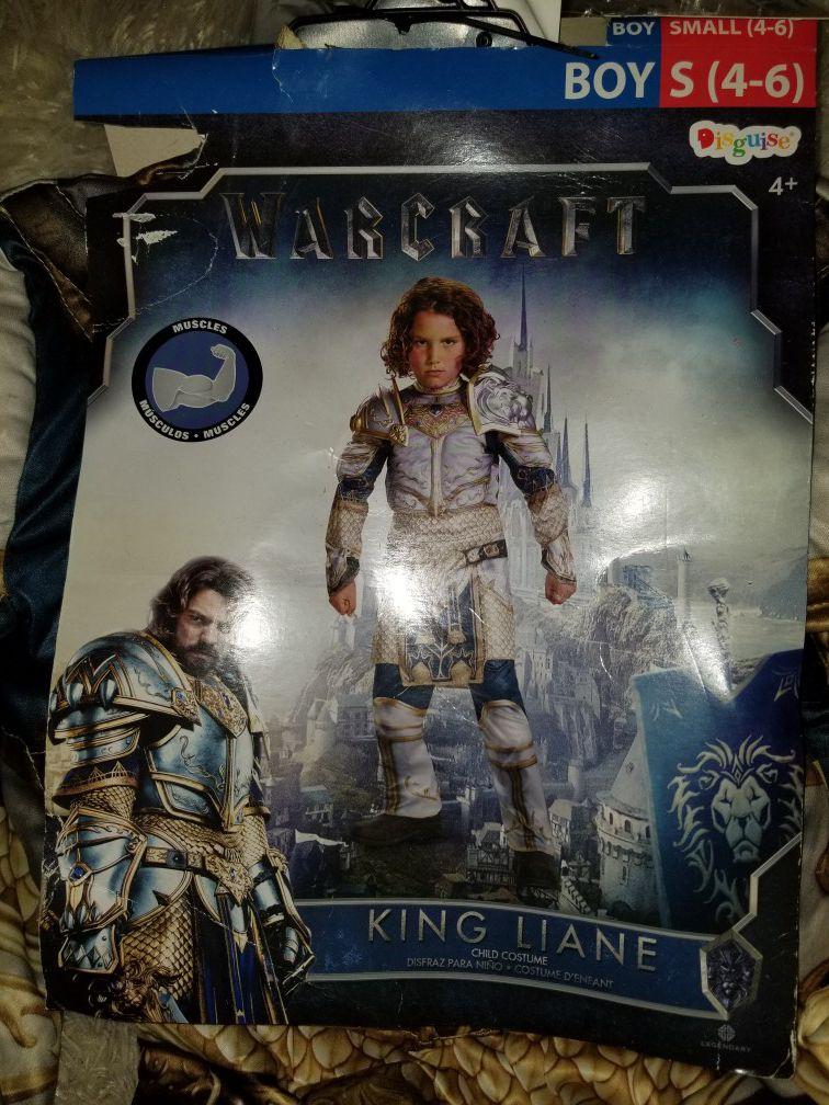 King Llane muscle Warcraft Halloween costume new
