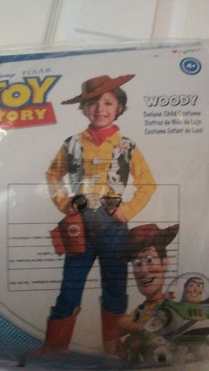 Woody. Toy story costume boy 6s age 4+ for Sale in Manassas, VA