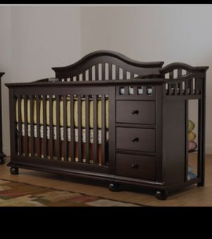 Espresso 3 in 1 crib by sorelle for Sale in Hollywood, FL