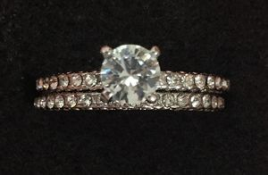 1 Ct Stunning White Gold Filled Wedding Set for Sale in Baltimore, MD