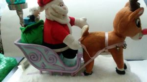"""""""11"""" COLLECTIBLE RUDOLPH AND SANTA FIGURINE for Sale in Elsmere, DE"""
