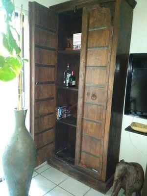 Vintage Rustic Home Decor Wood wardrobe armoire cabinet, shelf ...