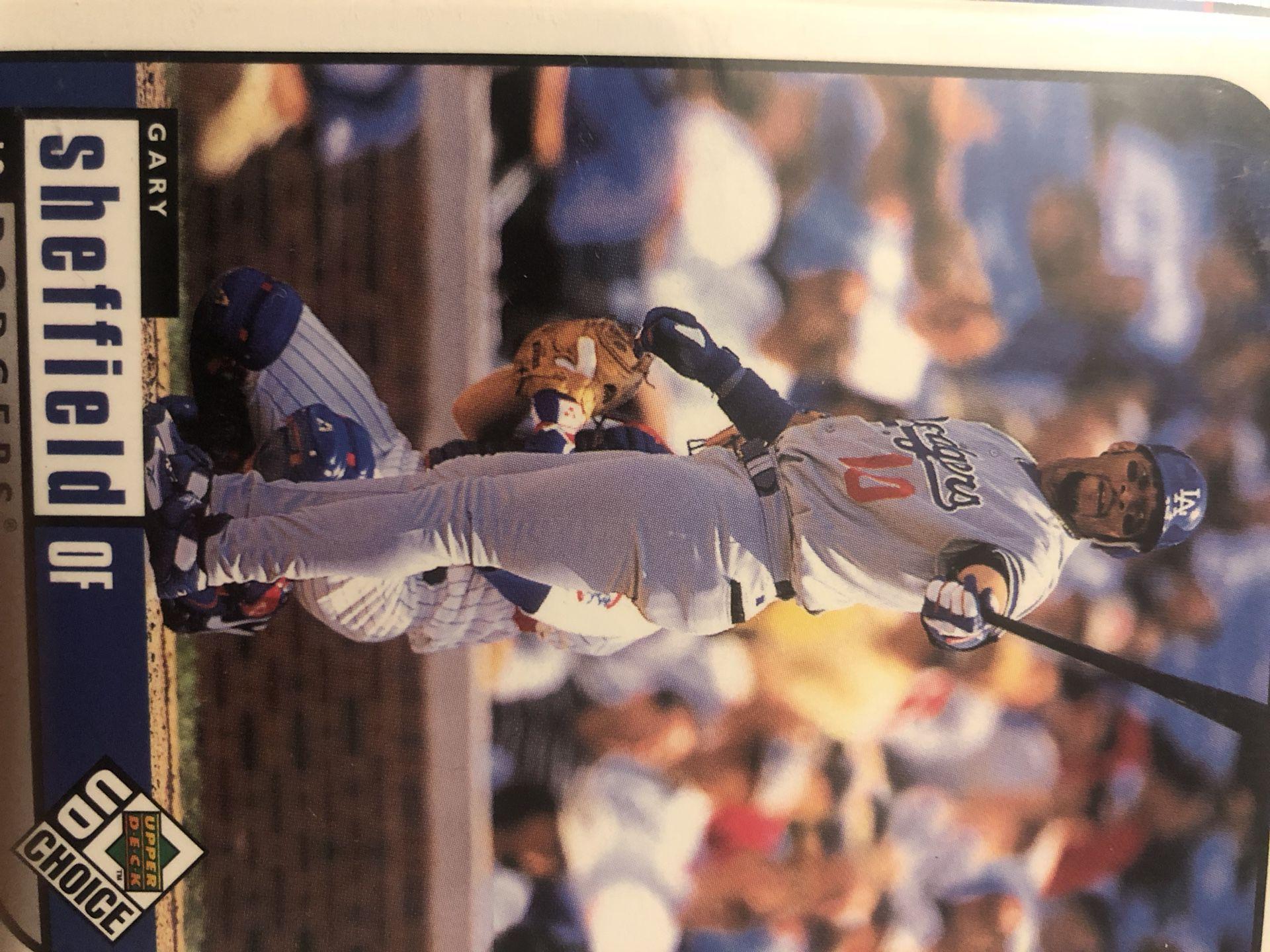 Gary Sheffield, 1999 Upper Deck, Dodgers baseball card