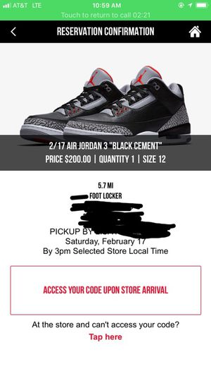 new concept a37d3 f7c41 ... designer tinker hatfield released 2014 original price 225 7e0bf ae804   authentic air jordan 3 black cement size 12 for sale in dallas tx aecb2  dc82e