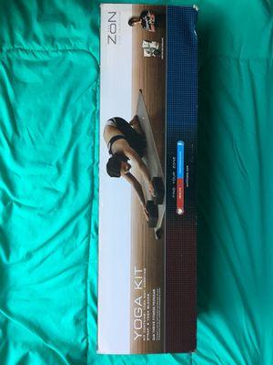 Zone yoga kit (lightly used): 2 blocks, 1 strap, 1 yoga mat, 1 fitness program DVD for Sale in Washington, DC