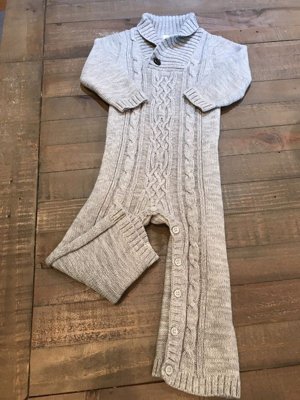 141182d9d48c 18–24m GAP gray cable knit sweater romper -  8!! for Sale in Long ...