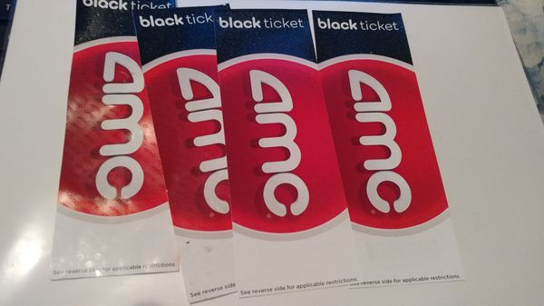 4 Pack Of AMC Movie Tickets For Sale In Los Angeles CA