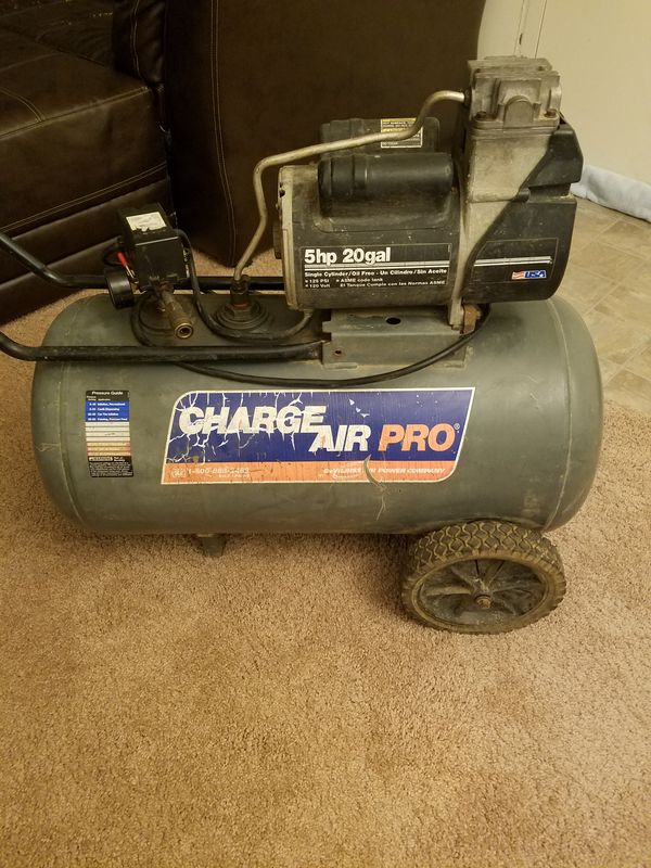 charge air pro devilbiss 5hp 20 gallon compressor for sale in saint