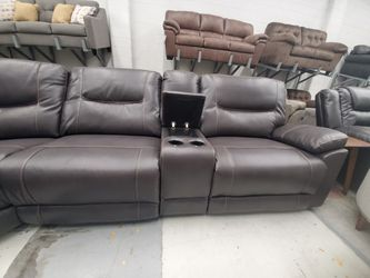 Large oversized reclining sectional NEW Thumbnail