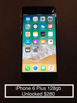 iPhone 6 Plus Black 128gb UNLOCKED $280 for Sale in Centreville, VA