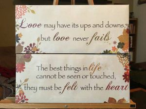 Pair of love heart wall hangings - $10 (Reston) for Sale in Reston, VA
