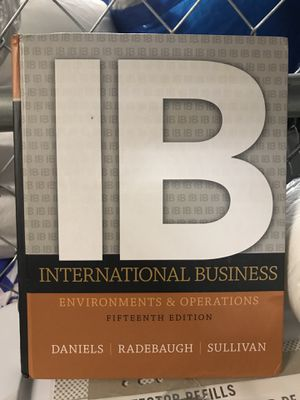 International Business environment and operations 15th edition for Sale in Miami, FL