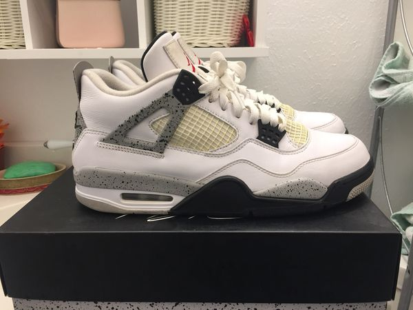 8ff83a0584c6 Air Jordan white cement 4s (wc4) size 10.5 og box for Sale in ...