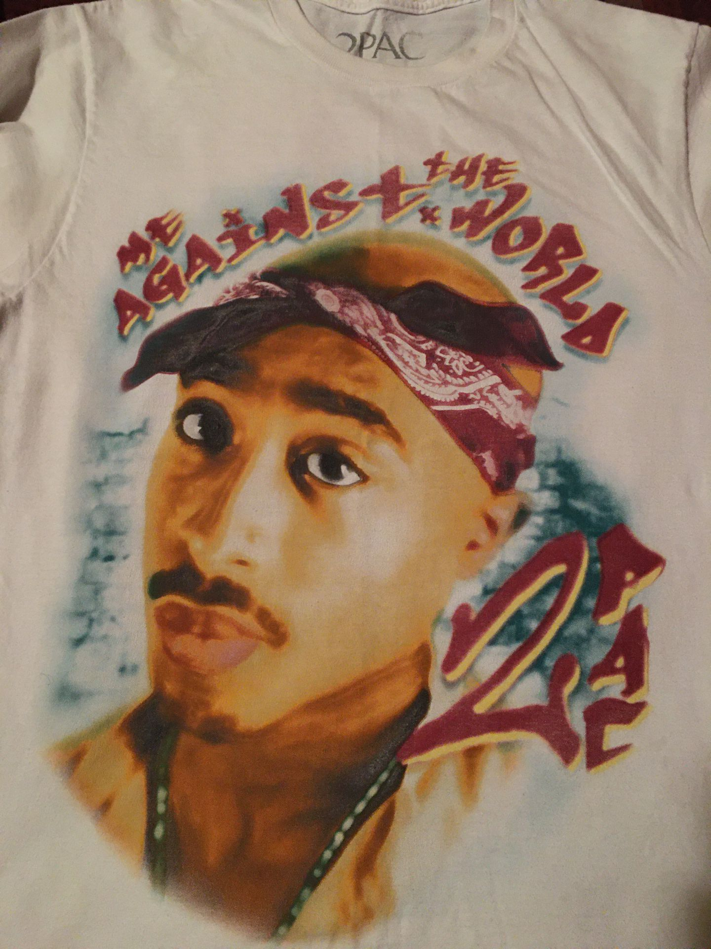 2pac large small over sized t