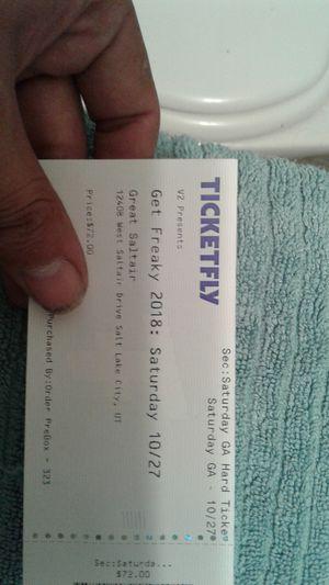 Get Freaky Ticket. for Sale in Bountiful, UT