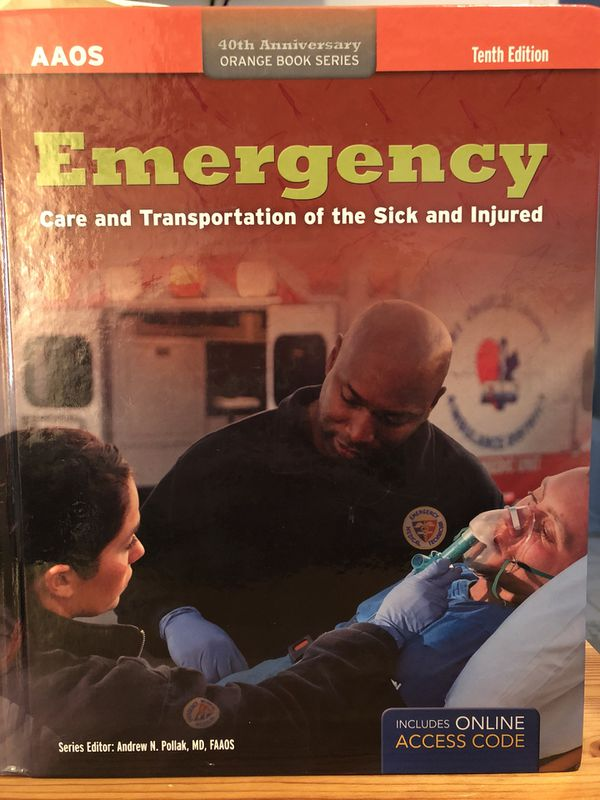 EMT Orange Book 10th Edition For Sale In Southington CT OfferUp