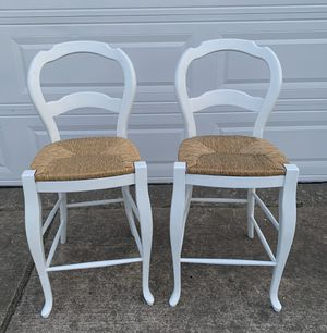 Photo Pottery Barn Bar Height Farmhouse Chair Set Just Refinished