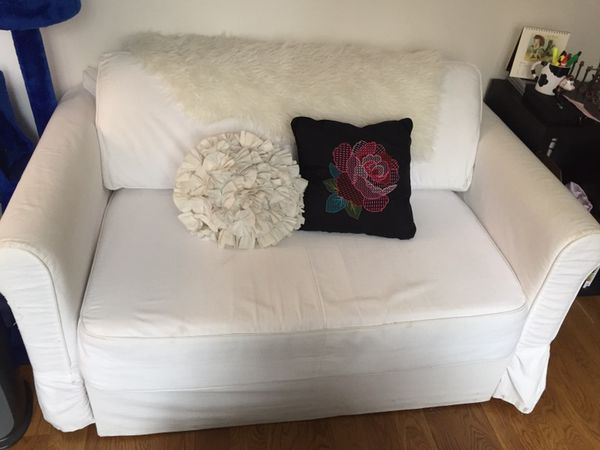IKEA HAGALUND (DISCONTINUED) SOFA BED LOVESEAT WITH STORAGE ...