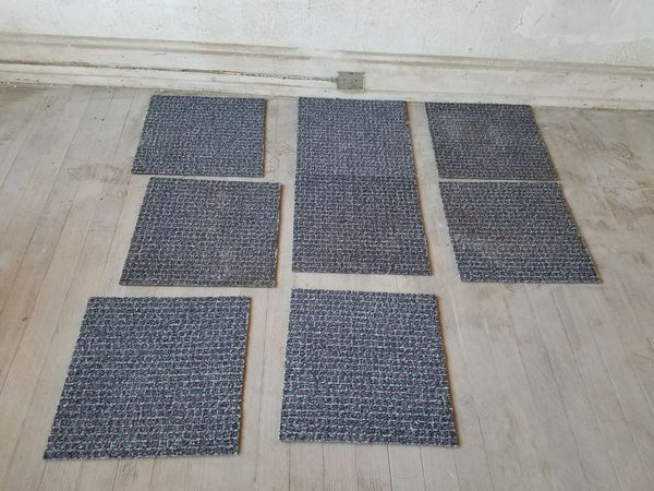 Rubber backed nylon carpet tiles