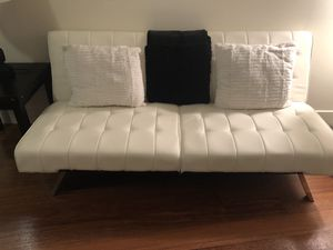 Nice Cream Leather Futon For In Tampa Fl