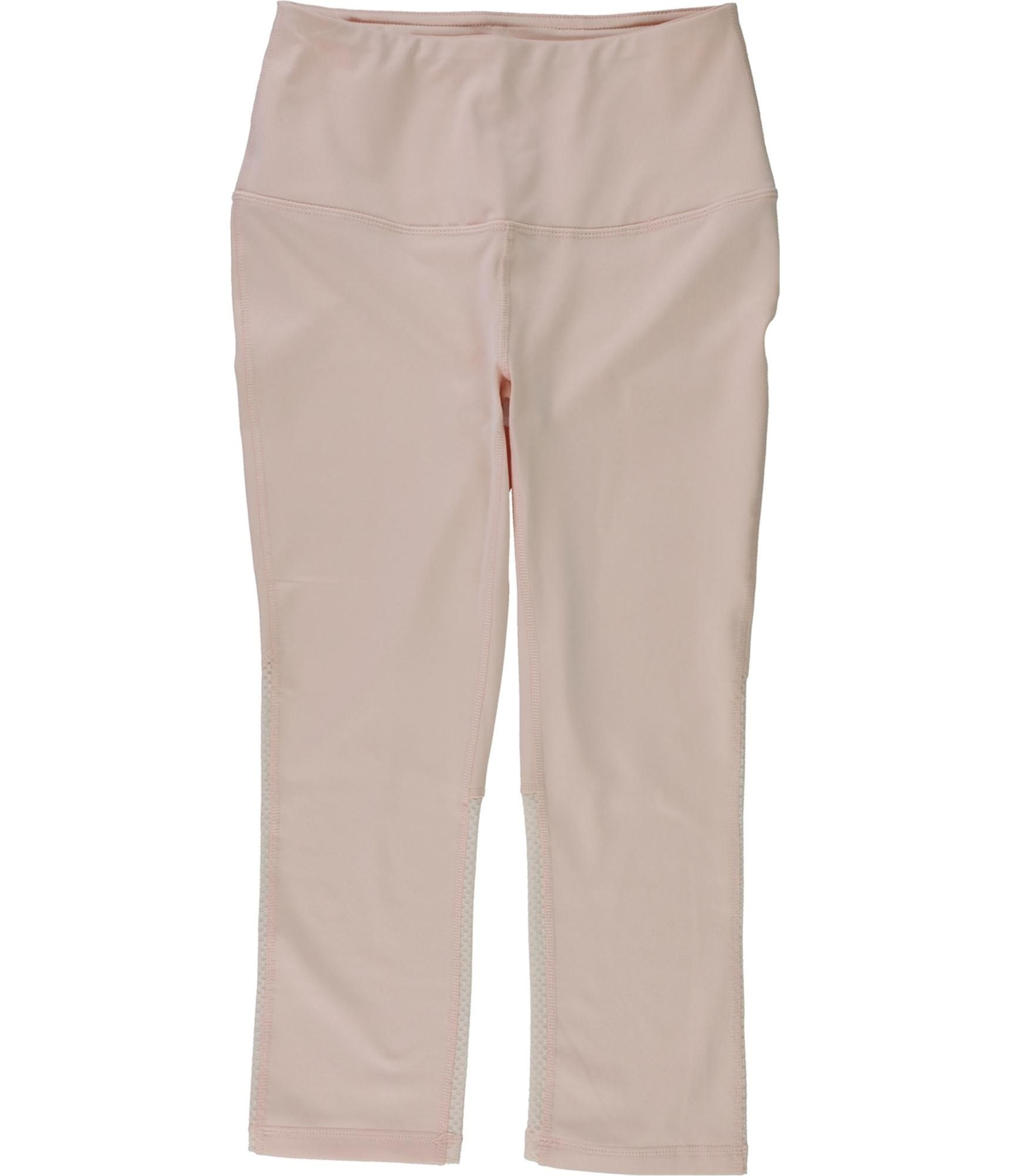 Reebok Womens Align High Rise Capri Compression Athletic Pants, Pink, X-Small