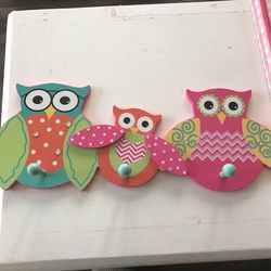 Owl Picture With Hanger Thumbnail