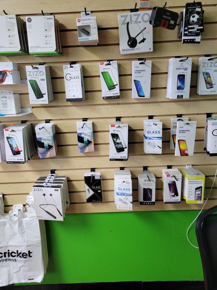 Screen Protectors And Head Phones