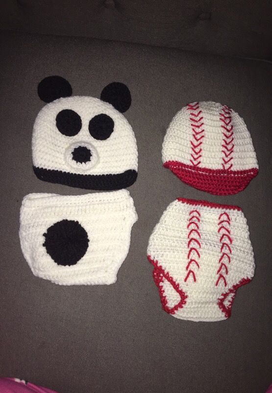 Crochet Baby Diaper Cover And Matching Hats For Sale In Perris Ca