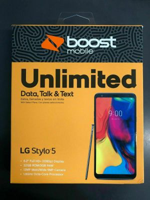 Photo FREE New LG Stylo 5 when you switch to Boost Mobile