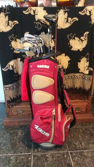 49ers golf bag and golf clubs for Sale in Fresno, CA
