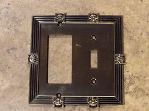Art Deco style antique brass switch plate for Sale in Alexandria, VA