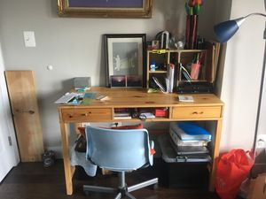 IKEA desk and chair with organizer for Sale in Washington, DC