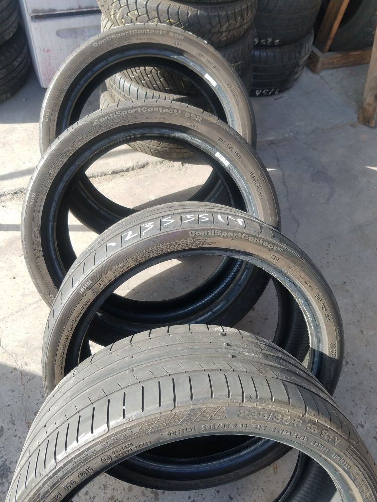 Continental tires back 255 3519 and front 235 35219